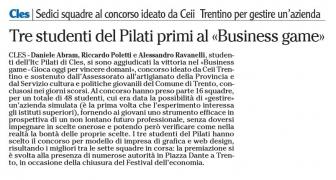 IL PILATI SI RICONFERMA AL BUSINESS GAME!